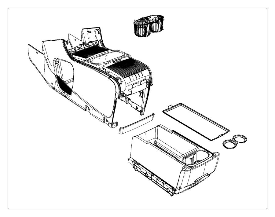 2014 dodge grand caravan console