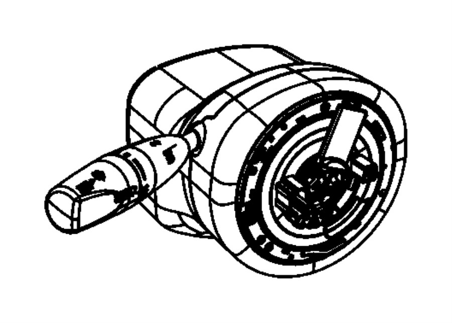 2013 dodge challenger module  steering column  trim   all