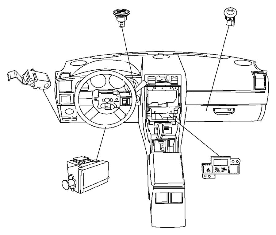 2011 Dodge Challenger Switch. Deck Lid Release. [power