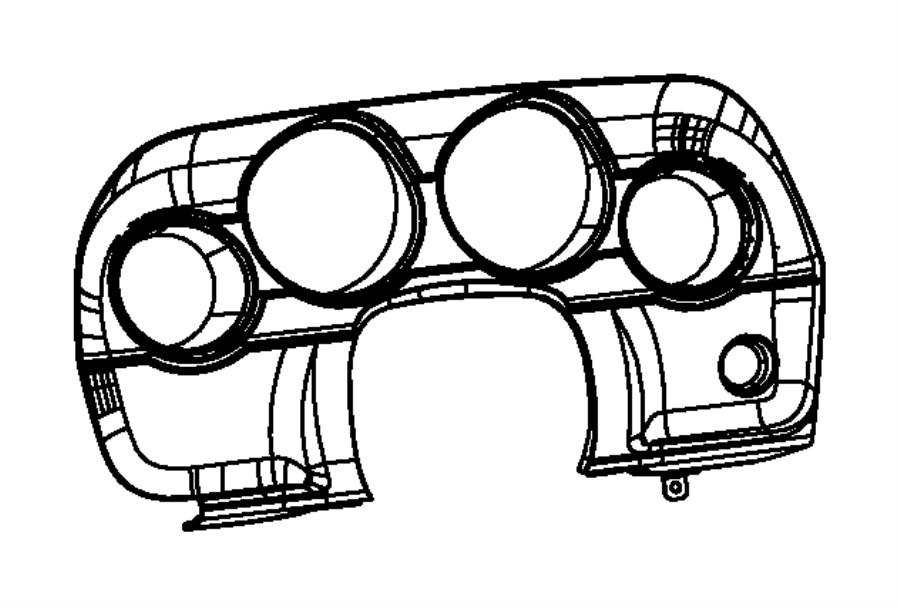 2013 dodge challenger bezel  instrument cluster  trim   all trim codes  color   no description