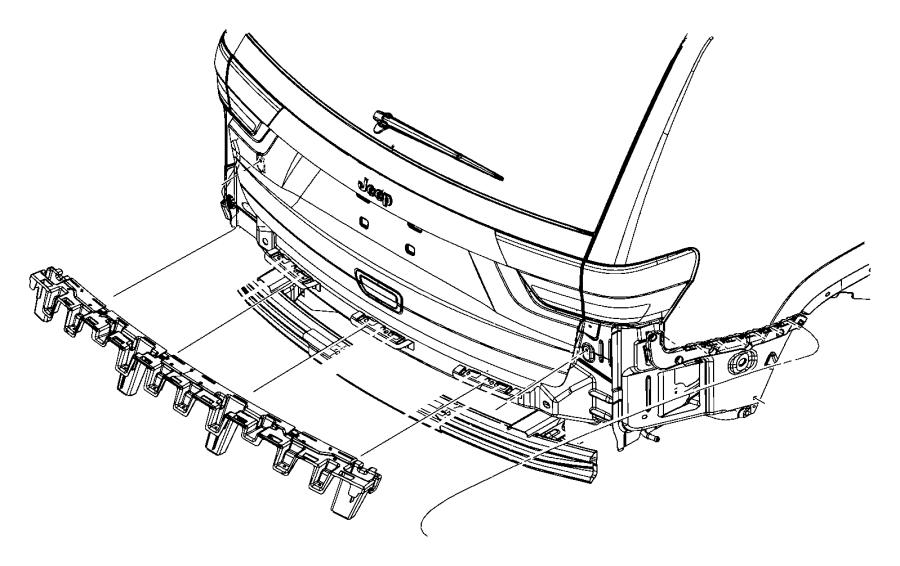 2015 jeep grand cherokee bracket  rear bumper  left