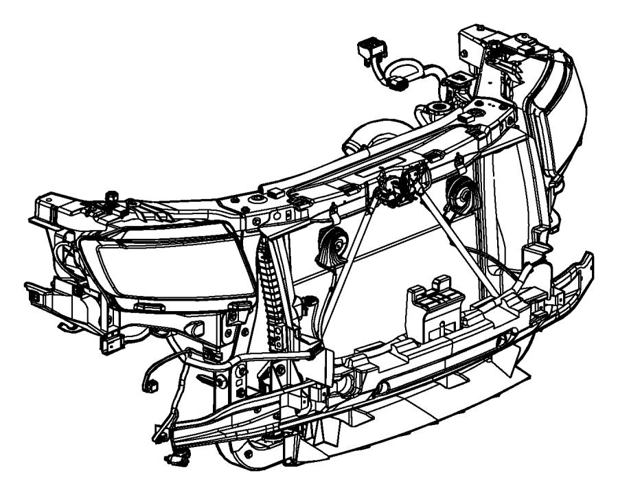Jeep Grand Cherokee Clip  Grille  Front  Fascias  Module