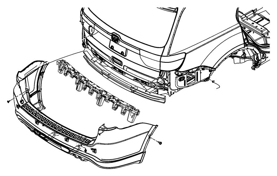2017 dodge durango bracket  rear bumper  left