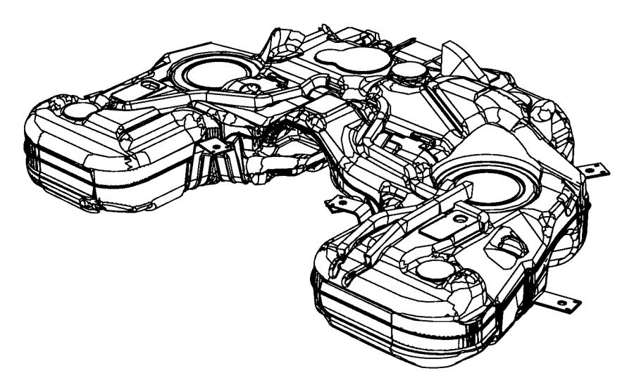 2011 Dodge Wd75 Tank Fuel Xkn Gallon Flex Export