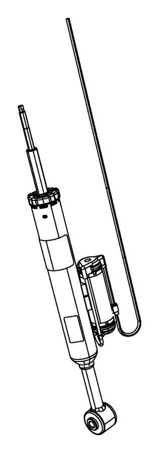 dodge challenger shock absorber  suspension  rear  left