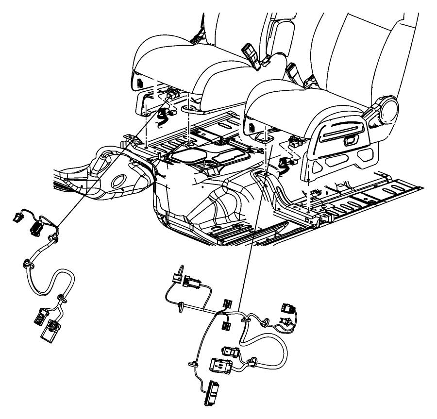2014 Dodge Avenger Wiring  Power Seat  Trim   Premium