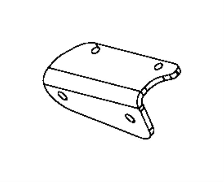 2014 dodge dart bracket  catalytic converter  hot end of