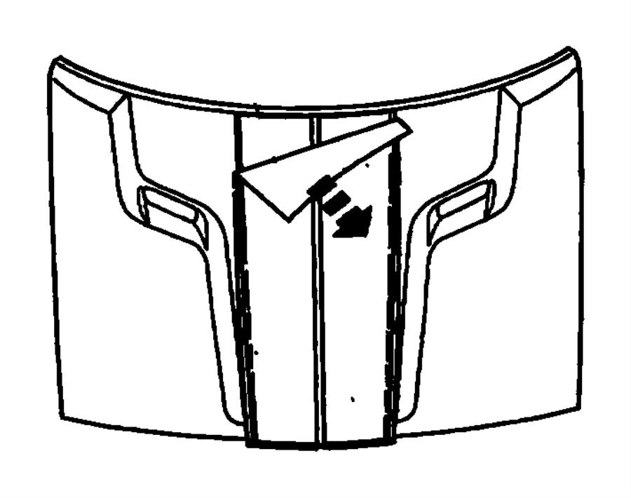 2013 dodge challenger decal  hood   dual black center stripes   color   no description