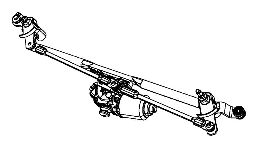 2013 dodge durango wiper assembly  windshield  system