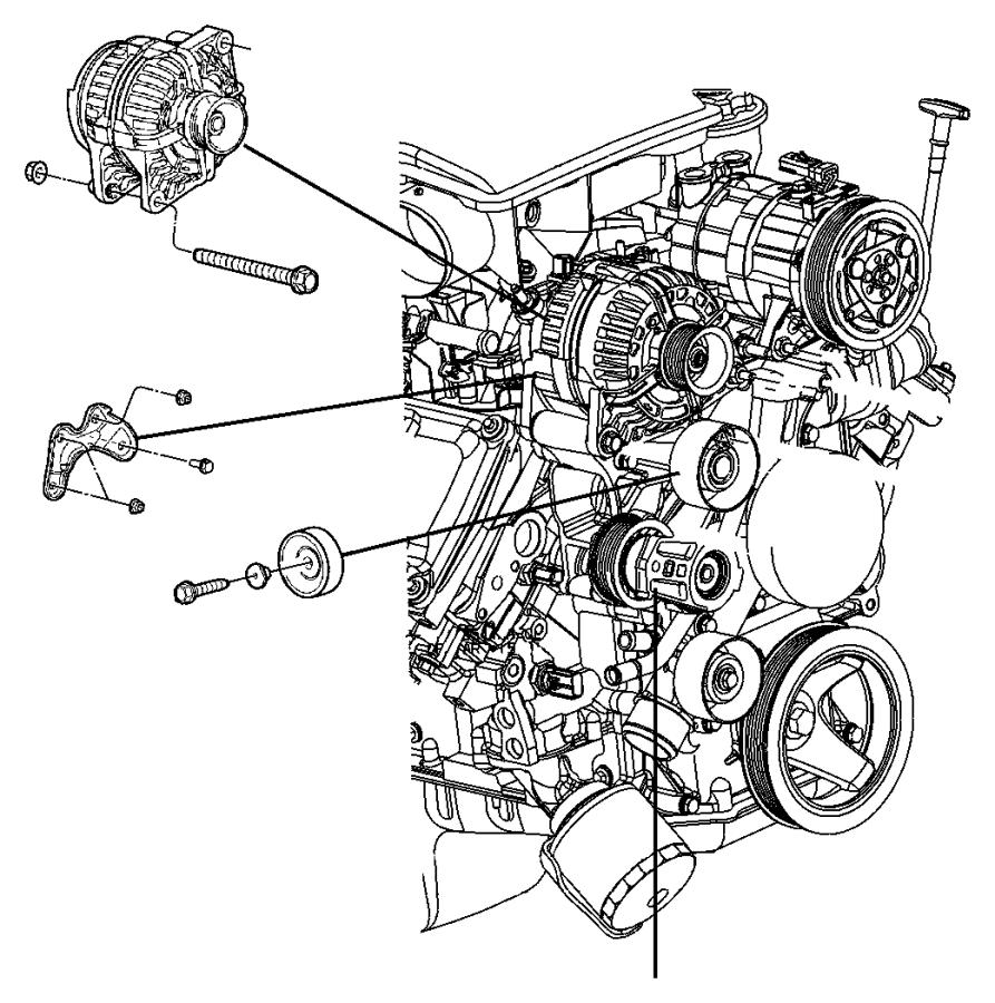 Dodge Ram 3500 Bracket  Used For  Alternator And