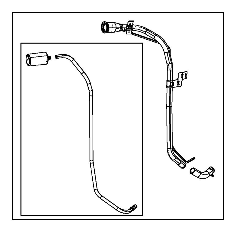 2015 jeep wrangler tube  fuel filler  engine  vvt