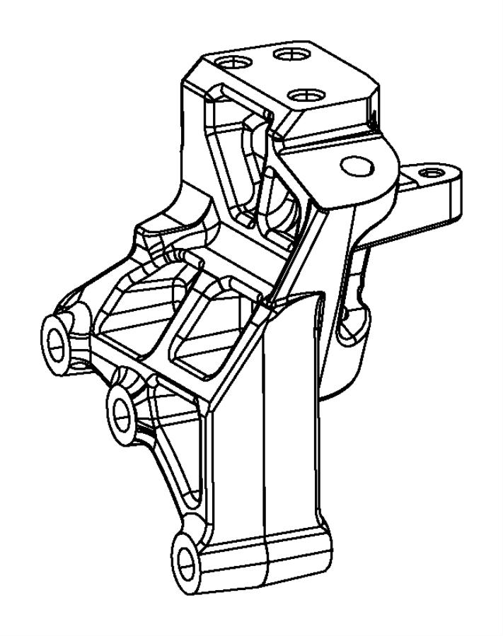 2013 chrysler 200 bracket  transmission mount  left side