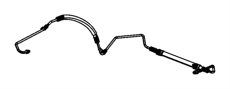 2014 dodge journey hose  power steering pressure  pump to