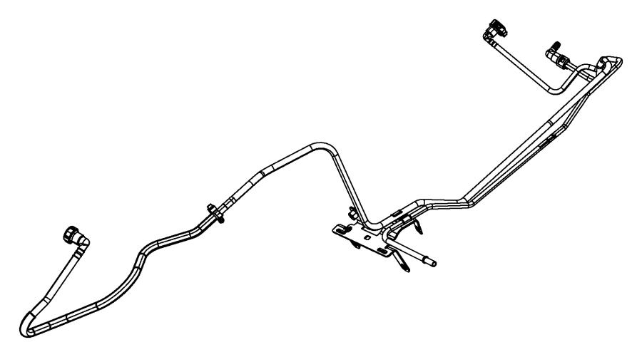 2014 jeep wrangler tube  fuel vapor  lines