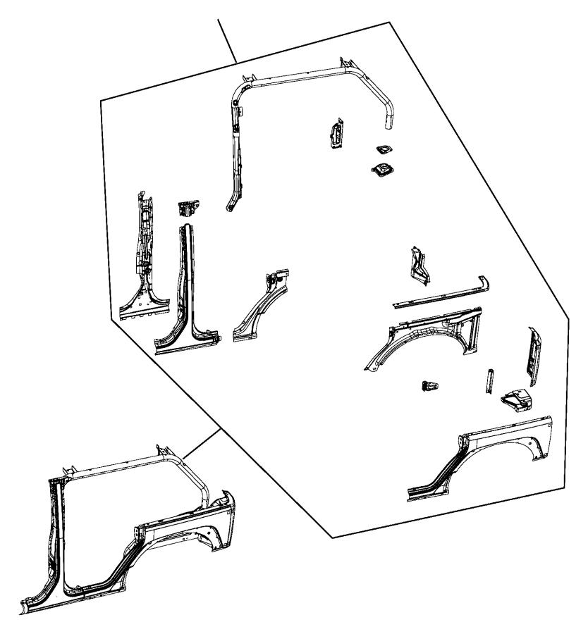 2017 Jeep Wrangler Molding  B Pillar  Left  Panel  Body
