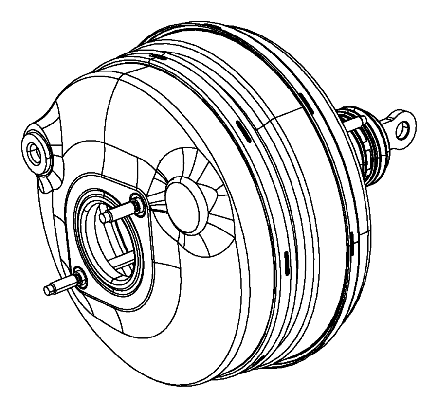 2012 dodge challenger booster  power brake   3 0l v6 turbo diesel engine