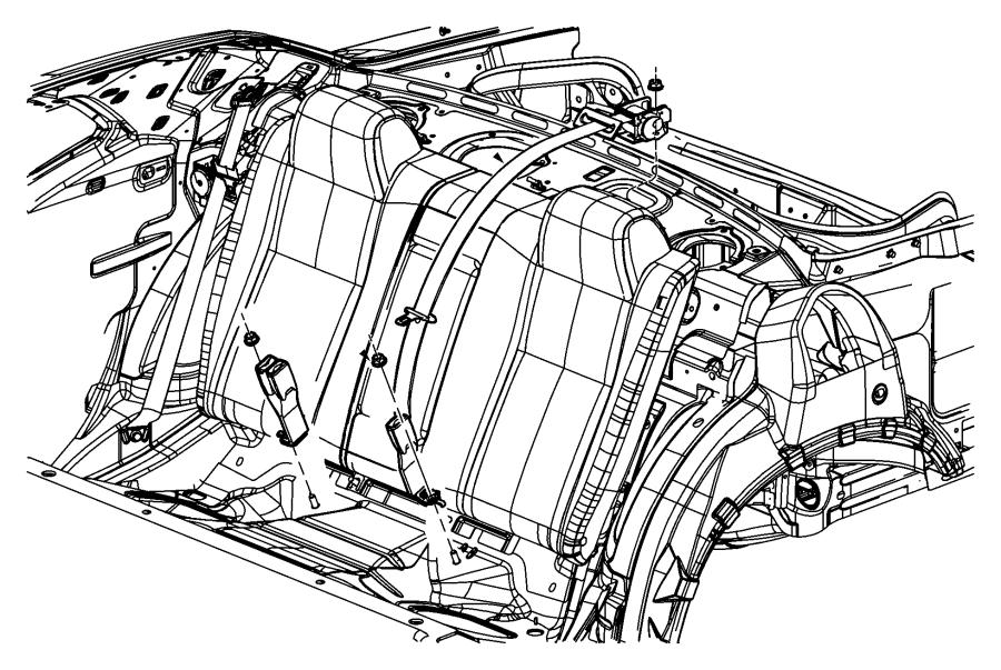2012 dodge challenger seat belt  retractor  right or left  trim   all trim codes  color   no
