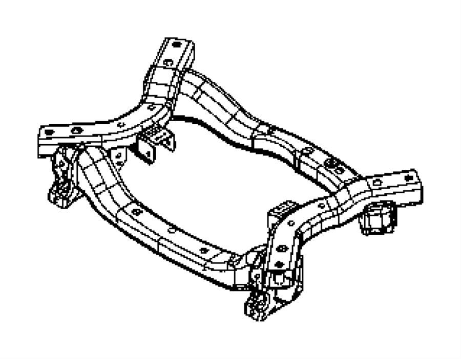 2014 Dodge Charger Crossmember  Front Suspension  Frame  Complete
