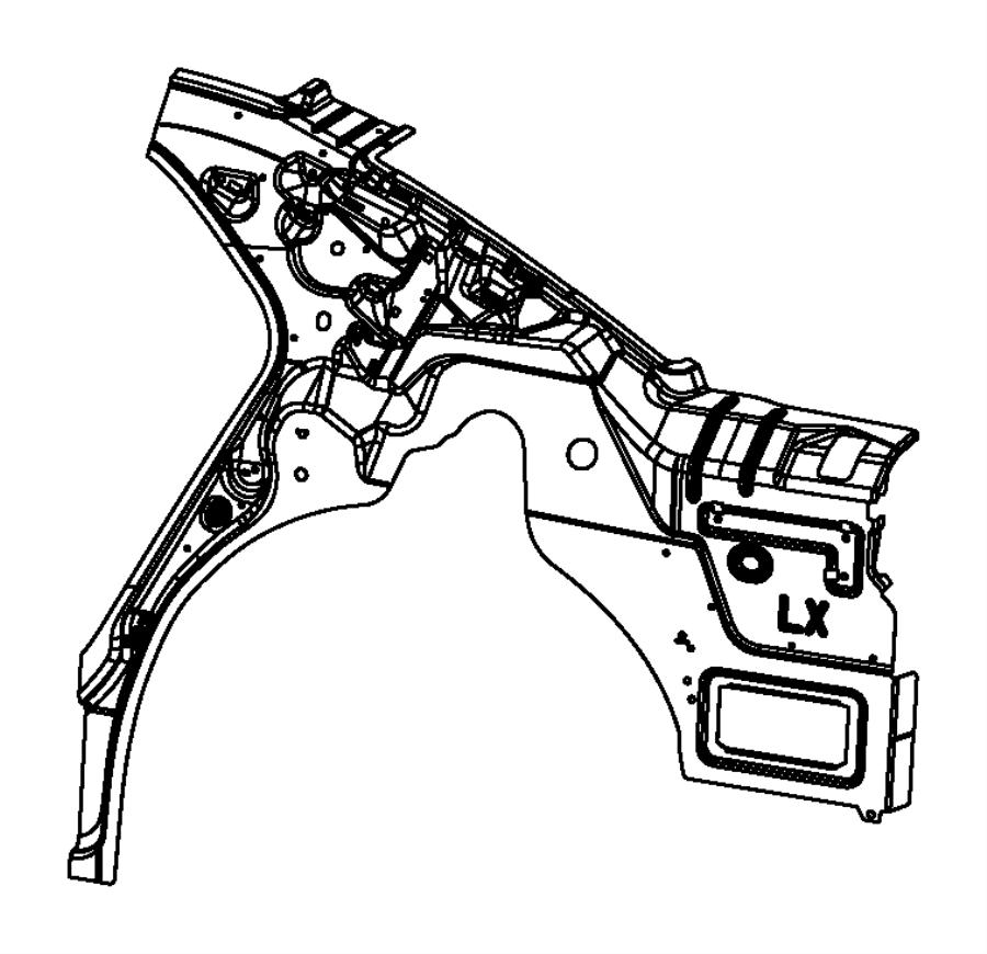 Chrysler 300 Panel. Body Side Aperture Inner. Rear. Left
