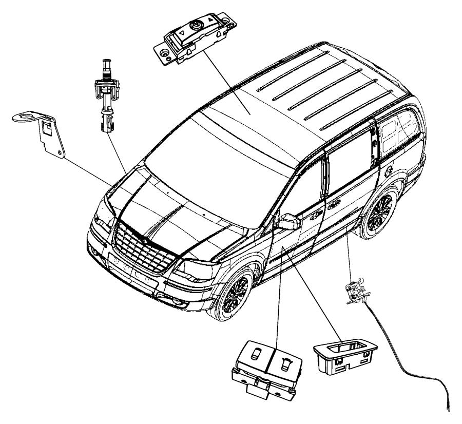 Dodge Grand Caravan Bezel  Vent Window Switch   Power Quarter Vented Windows  Rhd  Trim   All