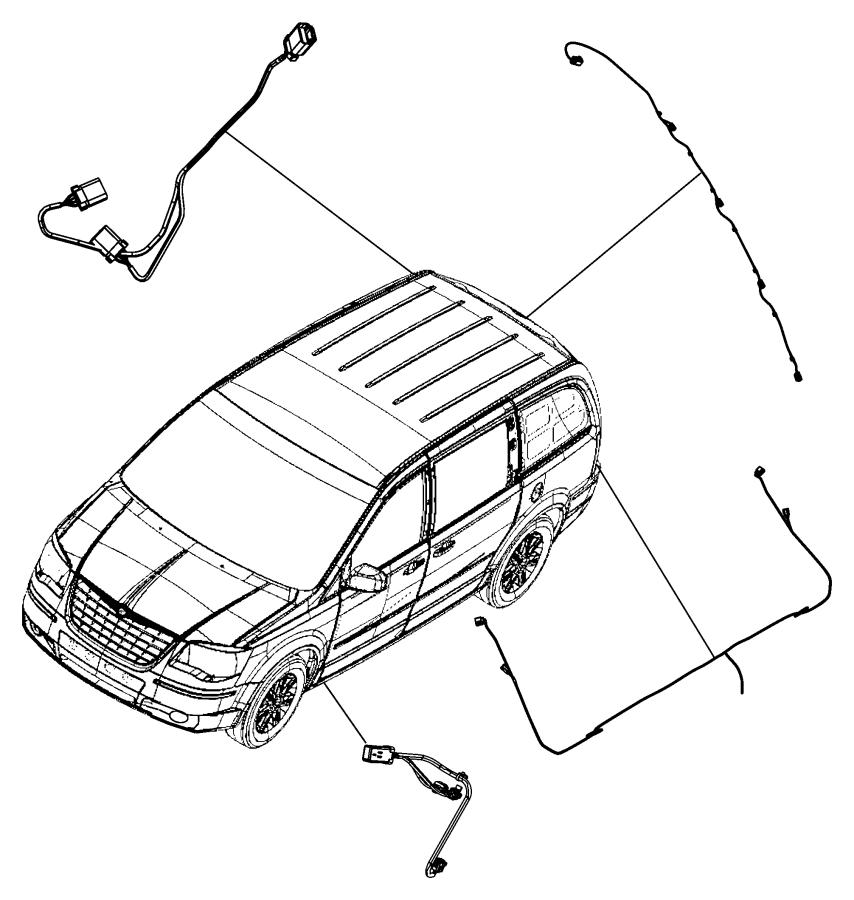Chrysler Town & Country Wiring Kit. Trailer Tow. [trailer