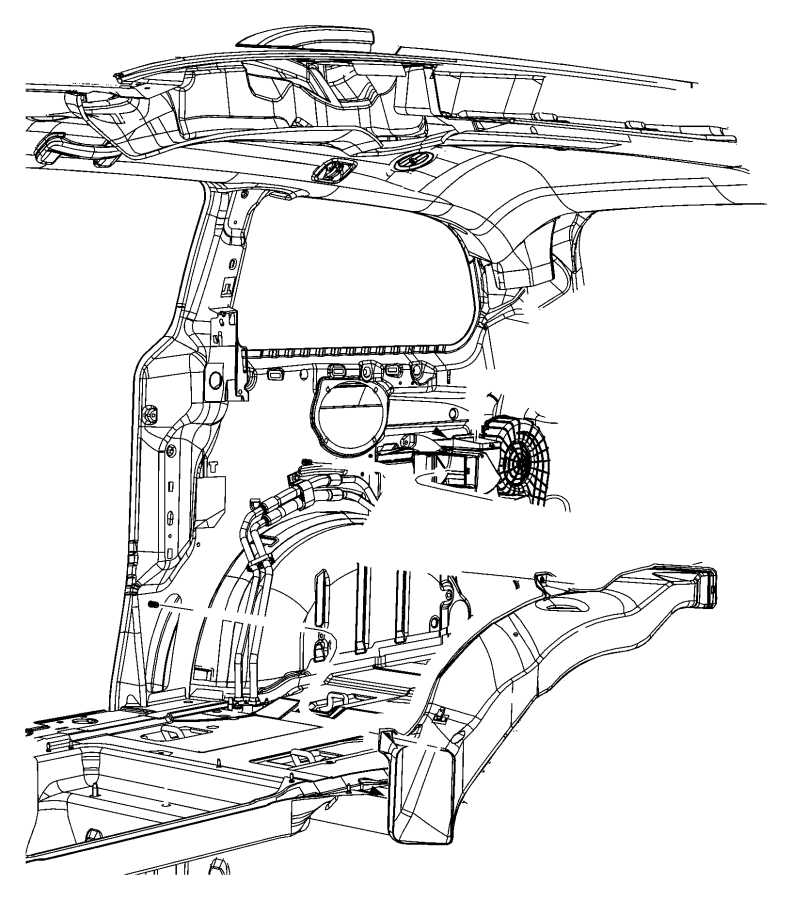 2011 Chrysler Town  U0026 Country Duct  Heat Distribution  Rear