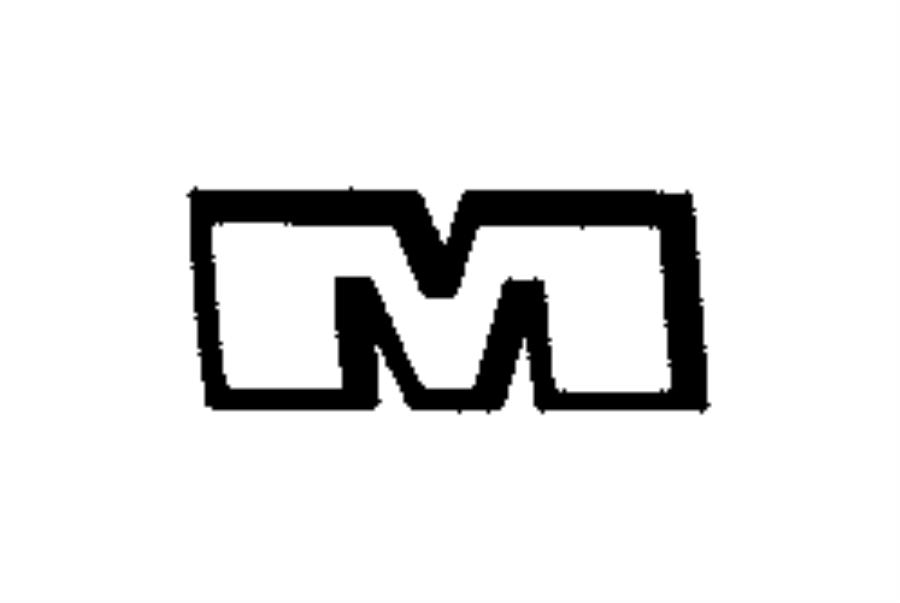 2014 chrysler town  u0026 country emblem  nameplate  liftgate