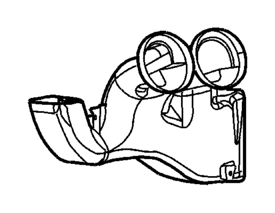 dodge viper duct  air distribution  trim   no description available