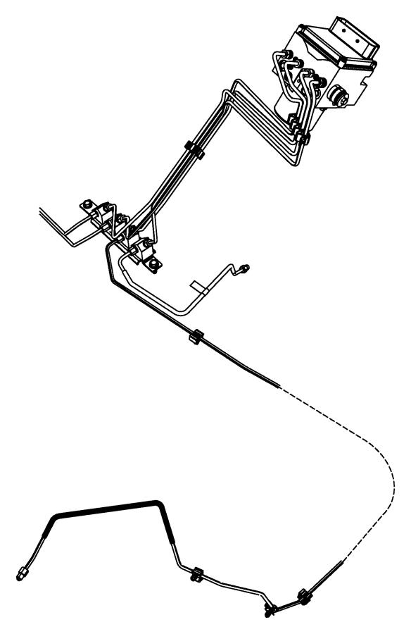 dodge ram 1500 tube  brake  hcu to junction block right
