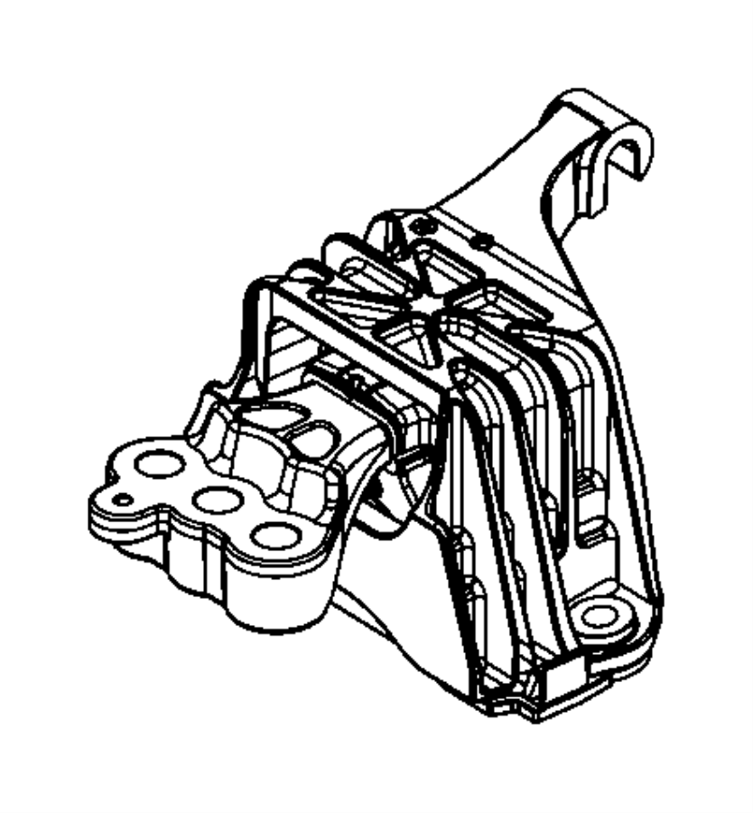 2013 dodge dart isolator  transmission mount   6-speed c635 manual transmission