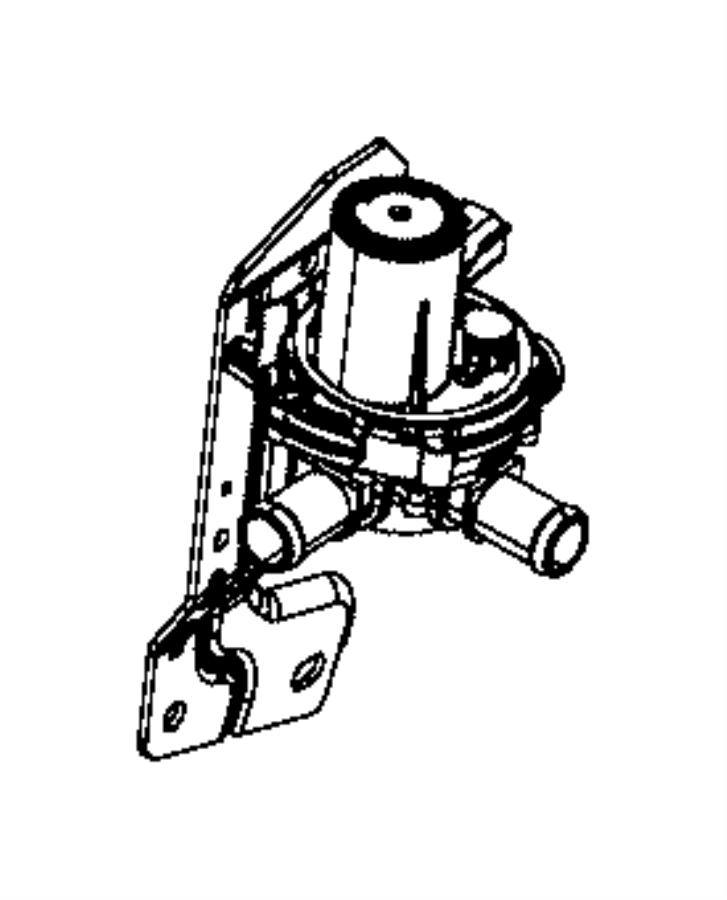 2015 ram 1500 valve  coolant 3 way  heater