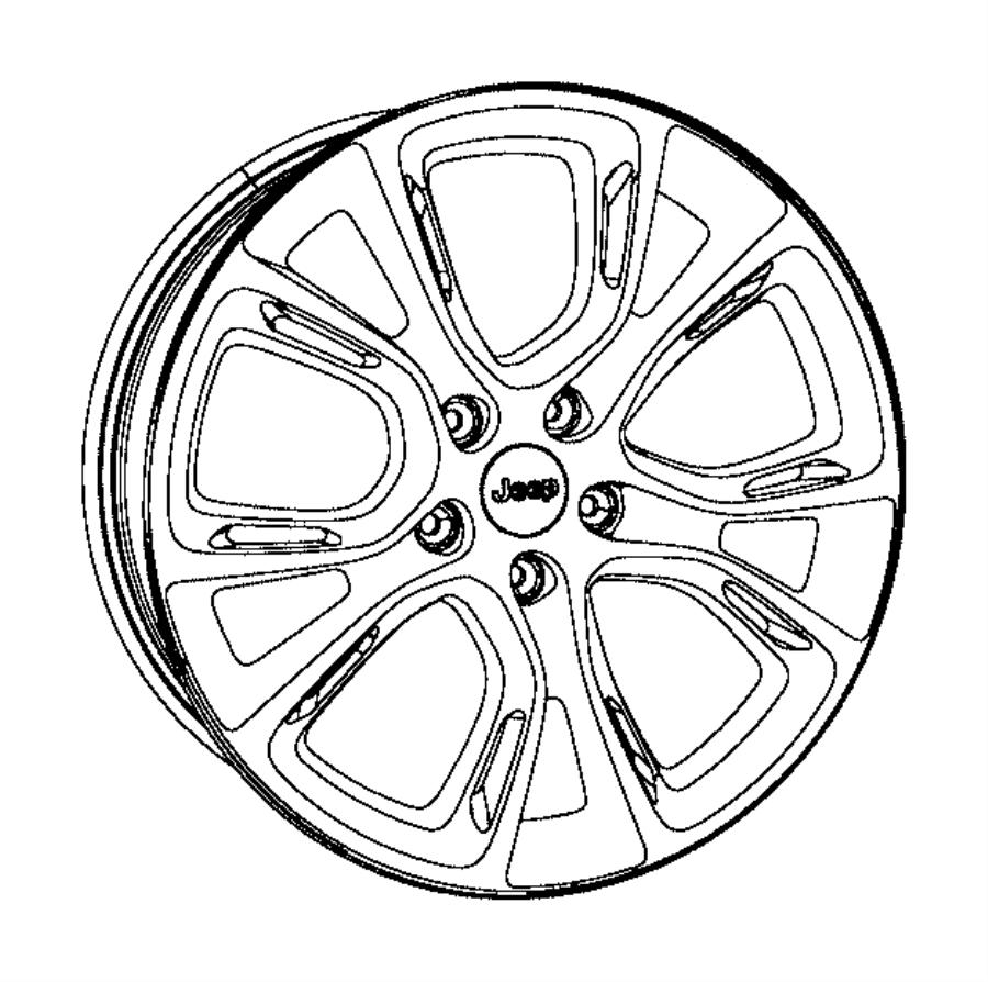 2015 jeep grand cherokee wheel  aluminum  mopar