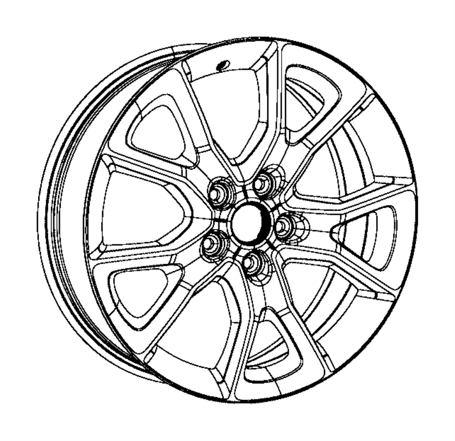 2016 jeep grand cherokee wheel  aluminum  front or rear