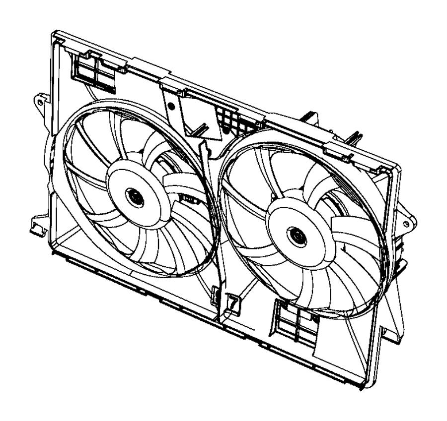 2016 jeep cherokee fan module  radiator cooling  engine
