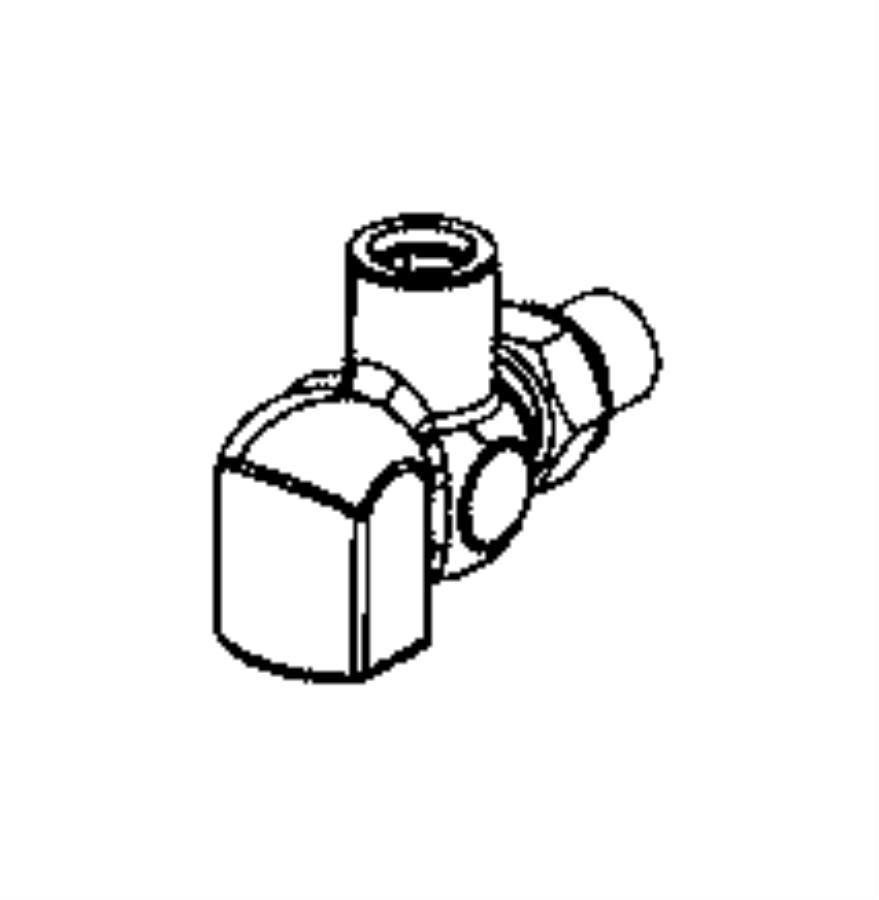 2015 ram 5500 elbow  oil cooler line  side  prep  take