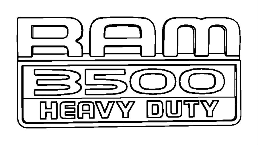 2014 ram 3500 nameplate  ram 3500 heavy duty  badge