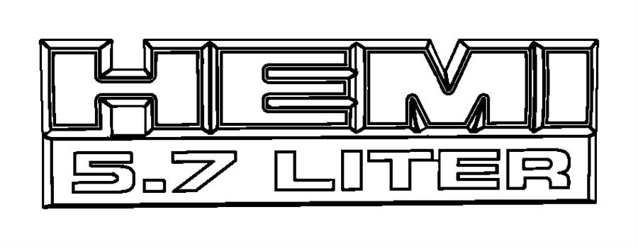 ram 1500 nameplate front fender hemi 5 7 liter badge 5 7 hemi engine parts schematic