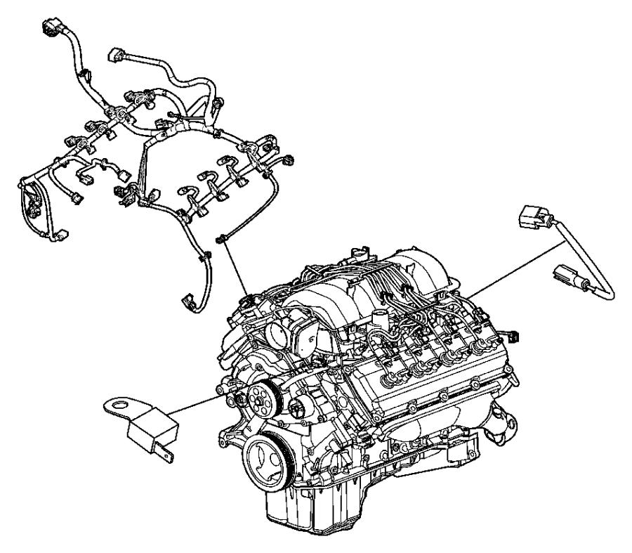 2014 dodge challenger wiring  engine