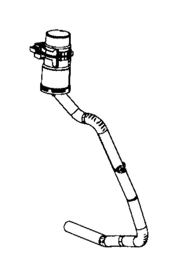 dodge avenger used for  hose and filter  fuel filler vent