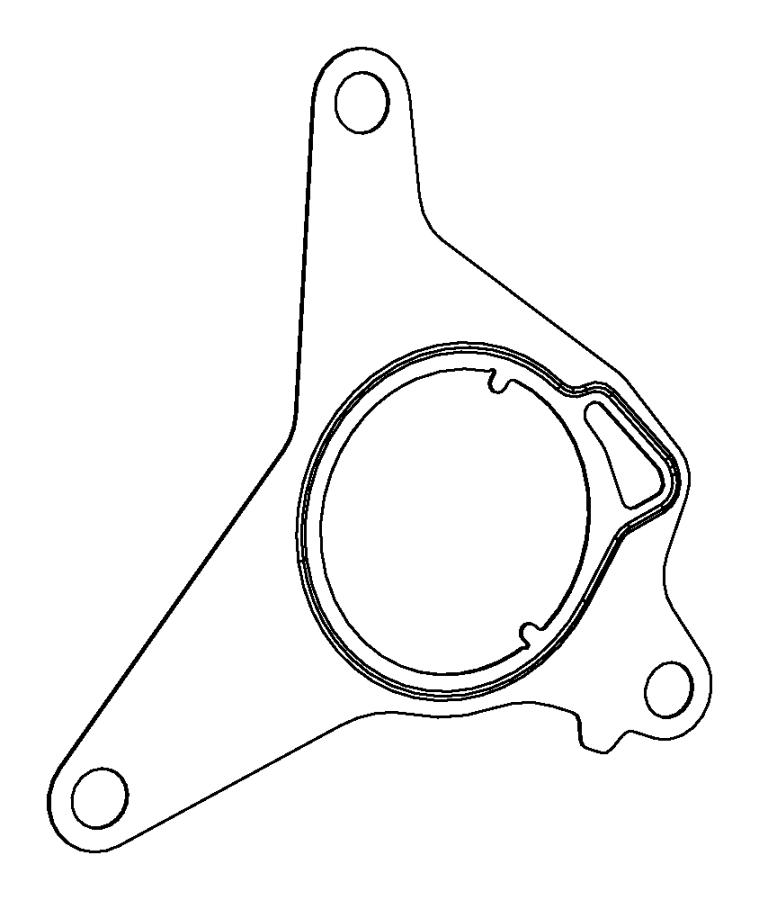 2012 dodge dart gasket  vacuum pump  mounting  peaf
