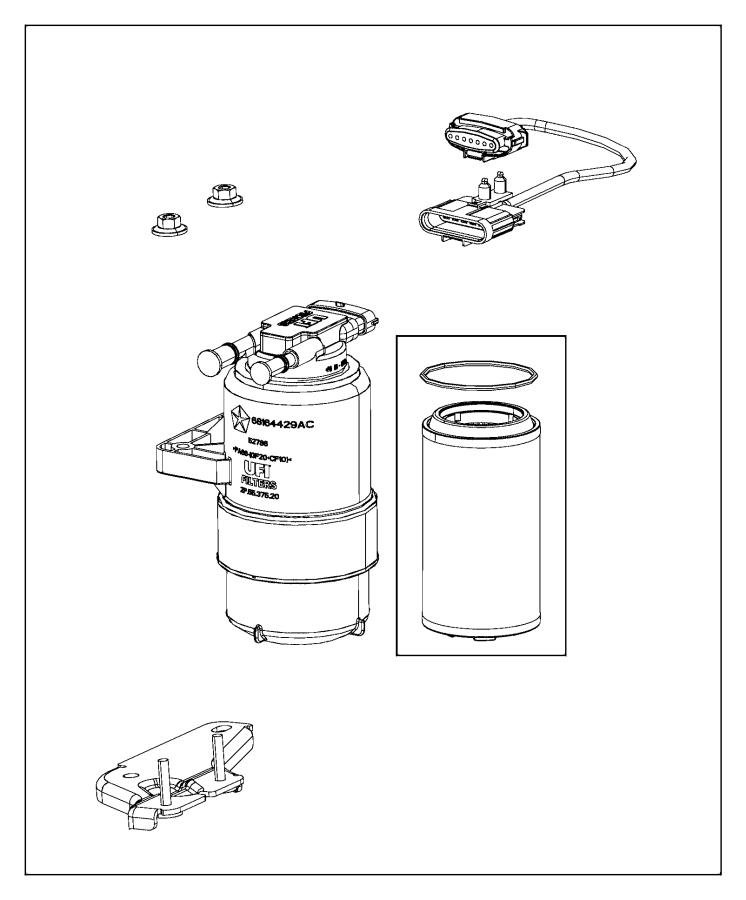 2014 ram 1500 filter  fuel  water separator