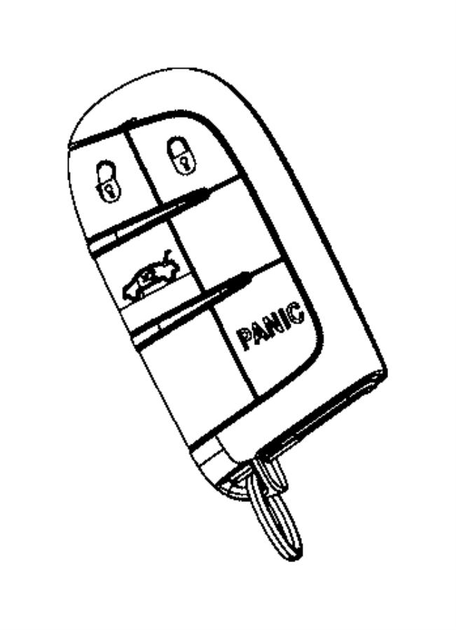 dodge dart transmitter  integrated key fob  remote