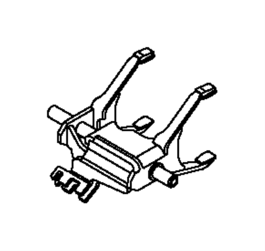 2014 dodge dart shift fork assembly  power  axle  rear