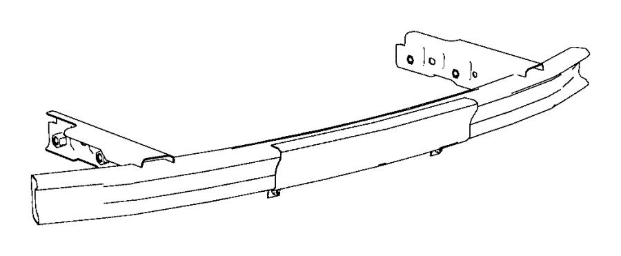 2014 dodge durango beam  rear bumper  trailer  tow  group