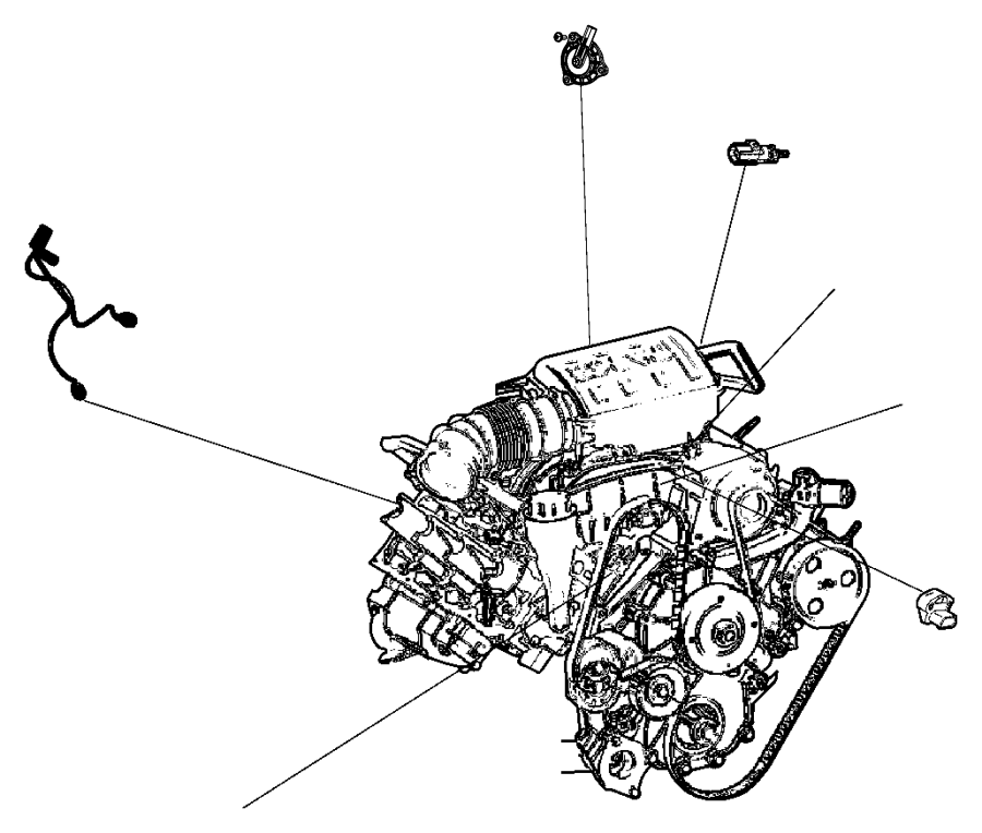 2015 Chrysler 200 Actuator. Cam Phaser. Engine, Sensors