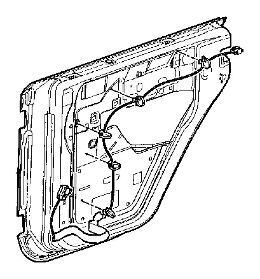 2017 jeep wrangler wiring  rear door  right  manual  locks