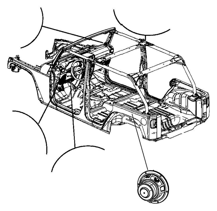 jeep wrangler speaker  sub woofer   6 premium speakers w