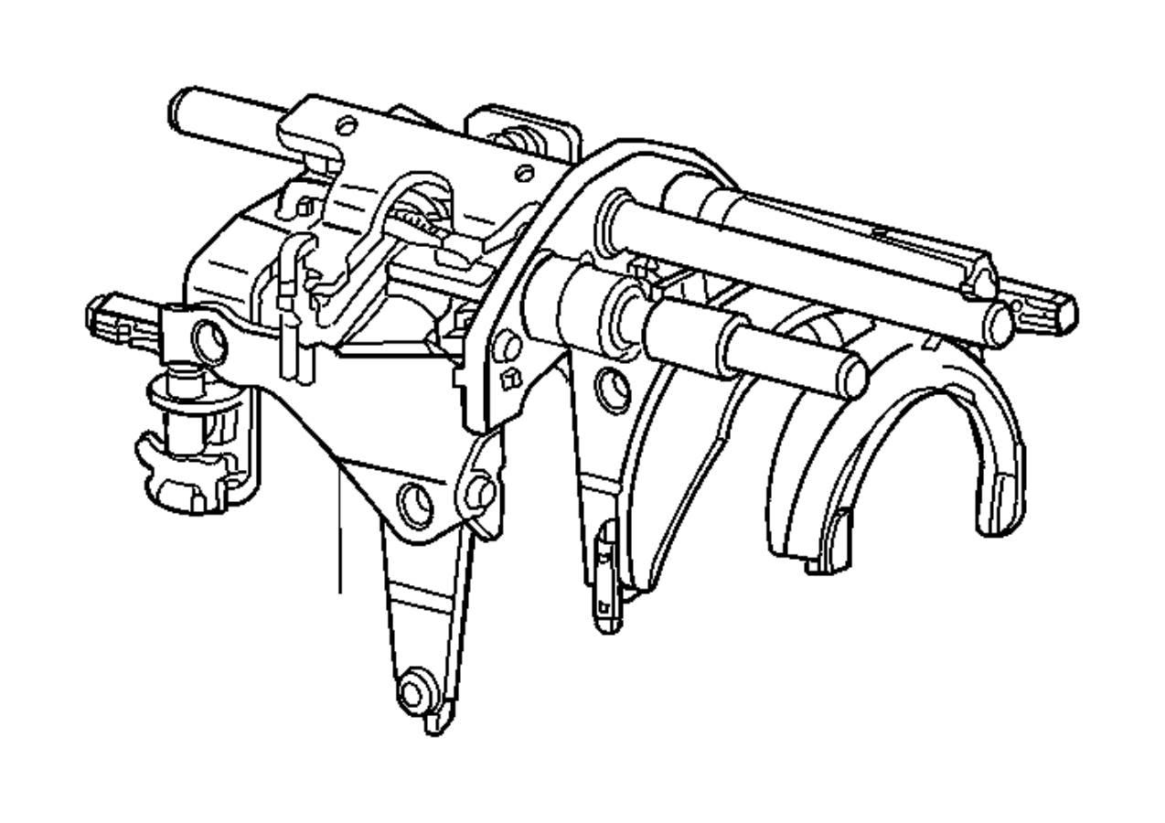 2015 jeep wrangler fork and rail assy  manual transmission