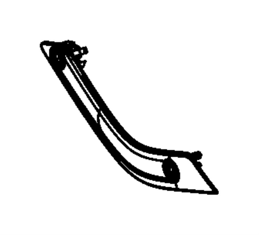 2012 jeep wrangler bezel  grab handle  release handle  right  trim   all trim codes  color