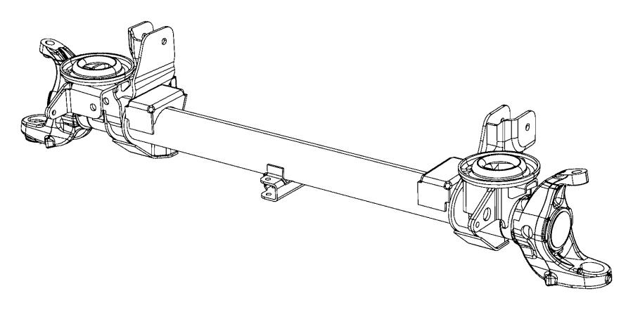 2015 ram 2500 housing  axle   205mm hd front axle    6